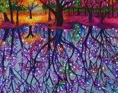 """Forêt féerique"" : Peintures par babslight"
