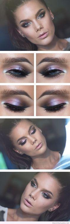Linda Hallberg pastel eye makeup