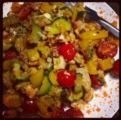 Isagenix: Chicken, veggie, and 'rice' stirfry