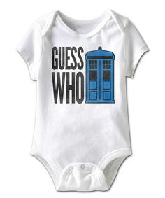 Look what I found on #zulily! White 'Guess Who' Bodysuit - Infant #zulilyfinds