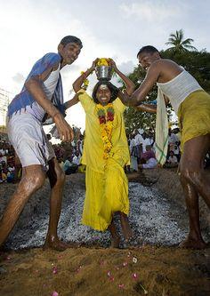 Cross the burning coals, Tamil Nadu