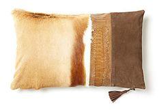 Parker 12x20 Hide Pillow, Natural
