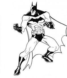 Simple Batman Coloring Pages