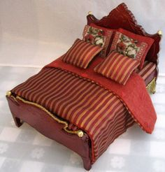 miniature dollhouse bedding - Google Search