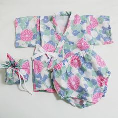 70-80cm baby kimono tutorial - free pattern  型紙無料ダウンロード(ベビー小物サンバイザー)~ハンドメイドのココロ(新米ママの手芸&グルメ)