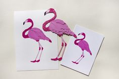 Flamingos all round! Original paper art flamingo, glicee print and greetings card all available in Paperart Paper Animals, Paper Illustration, Paper Art, Custom Design, Greeting Cards, Handmade, Papercraft, Hand Made, Craft