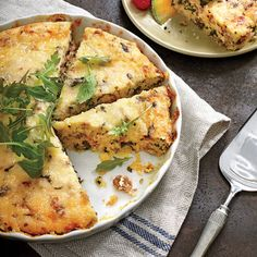 Sausage-and-Grits Quiche - Thanksgiving Brunch Recipes - Southern Living