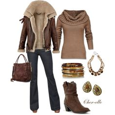"""""""Dress Down Friday in Brown"""" by cher-elle on Polyvore"""