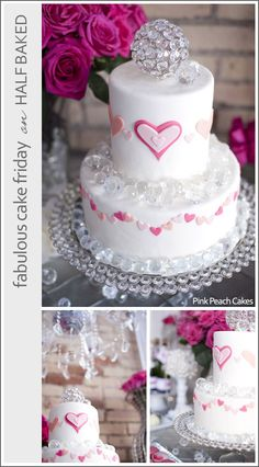 Heart tiered cake