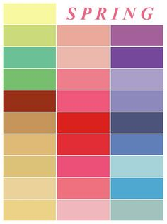 Spring color palette - inspiration for outfits and home decor colors