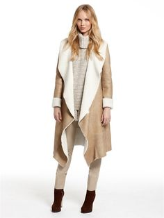 Women's Long Shearling Wrap Coat. Toast | jane's Style Pinboard ...