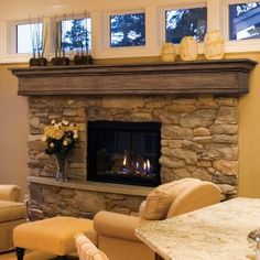 Pearl Mantels Auburn Traditional Fireplace Mantel Shelf. The windows (not the fireplace) might work.