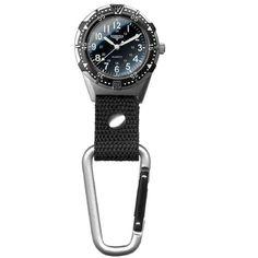 Dakota Men's Aluminum Backpacker Clip Watch - Black