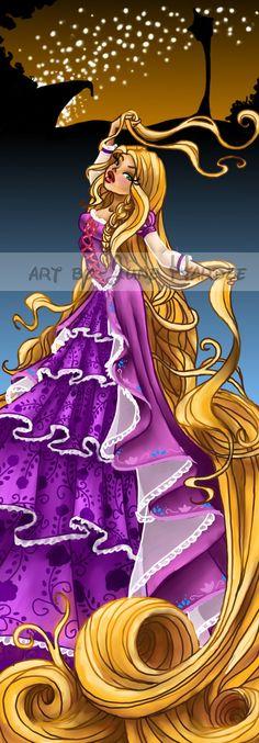 Rapunzel by JunebugHardee.deviantart.com ||She looks like a Bratz doll.
