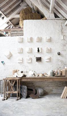 = brick and concrete studio space