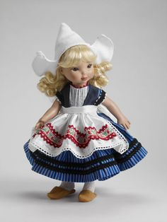 Dutch doll dressed in Volendam traditional costume.