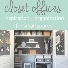 You won't mind getting work done with a home office like one of these. See these 20 inspiring photos for the best decorating and office design ideas for your home office, office furniture, home office ideas Small Closet Space, Small Space Office, Small Closets, Home Office Space, Home Office Design, Home Office Furniture, Home Office Decor, Small Spaces, Home Decor