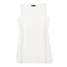 Tunica Tobago linen & silk mid-thigh straight cut long tunic, optical white, Loro Piana, $1400; see associated vest