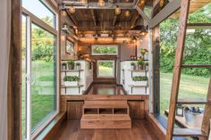 The interior of the Alpha, by New Frontier Tiny Homes