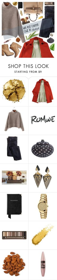 """New ROMWE contest"" by sinsnottragedies ❤ liked on Polyvore featuring Laurence Dacade, Pat McGrath, Karen Walker, J.Crew, NOVICA, Alexis Bittar, Aspinal of London, Gucci, Urban Decay and Maybelline"
