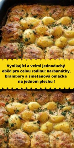 Slovak Recipes, Good Food, Yummy Food, One Pan Meals, Home Remedies, Hamburger, Food And Drink, Low Carb, Cooking Recipes