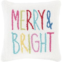 Surya Decorative Till 18 in. Down or Polly Filled Holiday Throw Pillow