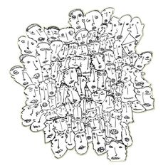 Social network  99heads  Art print A4  free shipping by 99heads, $15.00