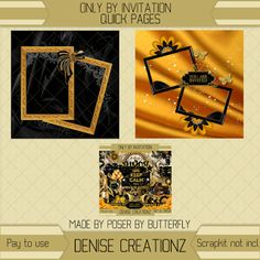 Denise Creationz: Only by Invitation Quick Pages 01