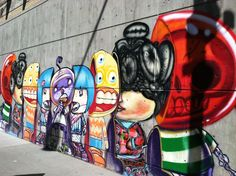 Awesome street art on 13th and Champa in Denver, CO