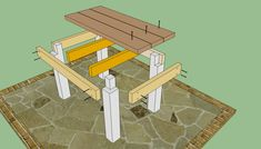 How to build a farmhouse table Animated Plans