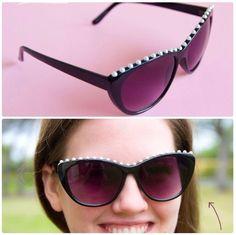 Pearl decorated sunglasses
