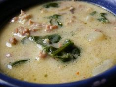 Zuppa Toscana – Olive Garden Style // mmmm i made this once before and it turned out GREAT! so much better homemade... lots of time but so worth it! -mn.