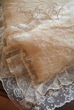 Beautiful lace pillows