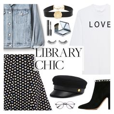 """""""Study Session: Library Chic"""" by dora04 ❤ liked on Polyvore featuring Gap, Soufiane Ahaddach, Valentino, Balmain, Henri Bendel, Burberry, Chanel and librarychic"""