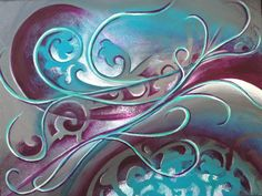 My very first piece of original art! By Reina Cottier Artist Fractal Art, Fractals, Original Art, Original Paintings, Wine And Canvas, Nz Art, Maori Art, Silk Painting, Abstract Art