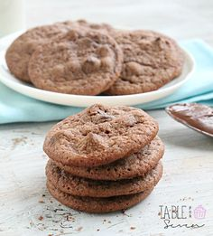 Nutella Chocolate Chip Cookies • Table for Seven