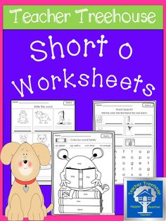 11 engaging short o worksheets. Great for centers, morning work, RTI, and homework!