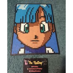 Bulma Dragon Ball perler beads by The Pikashop