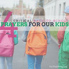 Do you worry about what your children encounter when they are at school, about the choices they make and the friends they have? May this year be defined by how we go before our children in prayer; advocating for them before the throne of God each and ever day! Start here with four critical prayers for back to school.