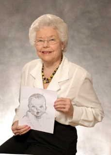 The Gerber Baby then and now /Ann Turner Cook . Stretch drawn in 1928