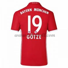 Billiga Fotbollströjor Bayern Munich 2016-17 Gotze 19 Kortärmad Hemmatröja