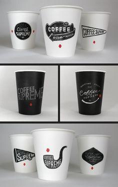 ::: HARDHAT DESIGN / COFFEE SUPREME REBRAND / TAKEOUT CUPS ::: — Designspiration
