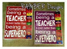 TEACHER Superhero Teacher Appreciation Gift by RAMBERDesigns, $20.00