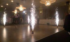 Artificii pentru dansul mirilor.
