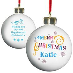 Personalised Colourful Christmas Bauble  from Personalised Gifts Shop - ONLY £10.99