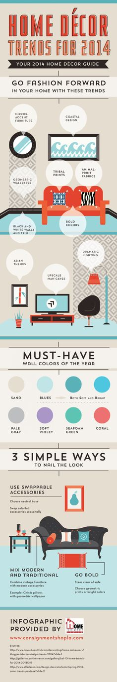 Home Décor Trends for 2014: Your 2014 Home Décor Guide #Infographic