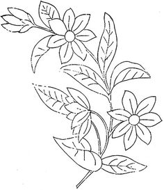Embroidery Pattern from 1886 Ingalls Flower Hand Embroidery Tutorial, Embroidery Flowers Pattern, Learn Embroidery, Hand Embroidery Designs, Vintage Embroidery, Ribbon Embroidery, Floral Embroidery, Embroidery Stitches, Flower Patterns