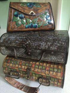 2 Huntley and Palmer handbag tins and one other.
