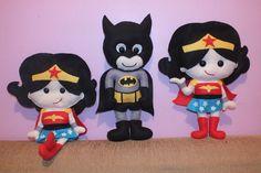 Mulher Maravilha e Batman cute