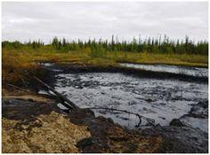 Oil spill in Komi region of Russia